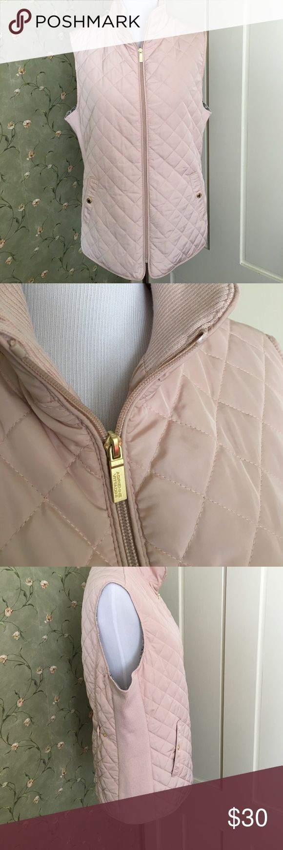 Adrienne Vittadini Quilted Vest Adrienne Vittadini Quilted Vest. Brand new and never been worn. Great color of Spring months. Adrienne Vittadini Jackets & Coats Vests