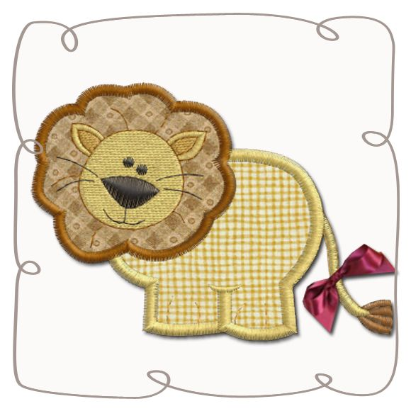 Lion Applique Machine Embroidery Design Pattern-INSTANT DOWNLOAD
