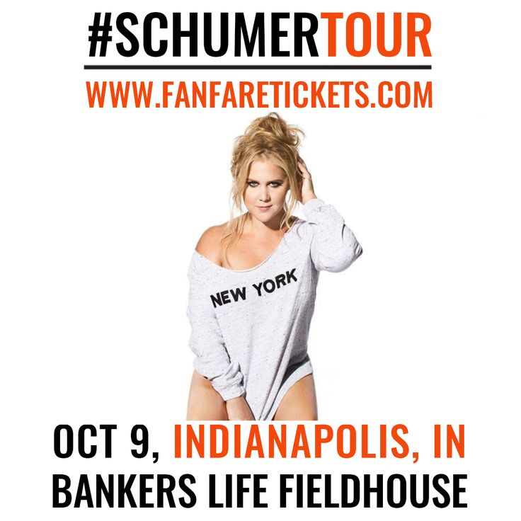 Amy Schumer in Indianapolis- Tickets on sale now! #Schumertour