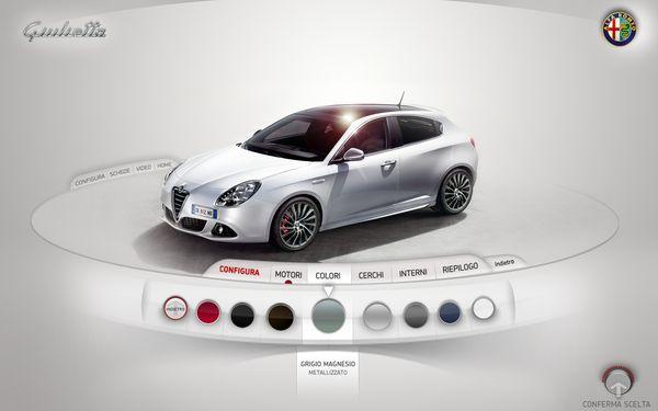 Alfa Giulietta - Interactive Kiosk by Gianpaolo Tucci: Webdesign, Configur Color