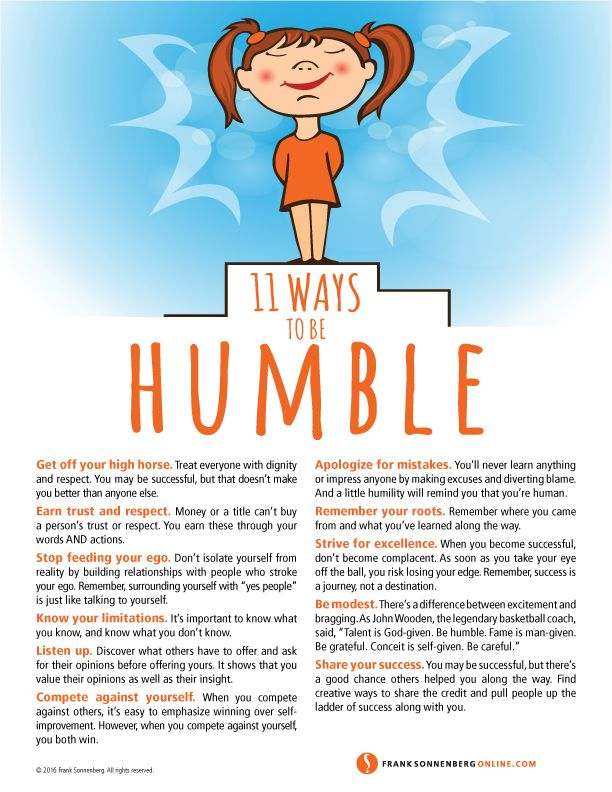 11 Ways to Be Humble  I www.FrankSonnenbergOnline.com