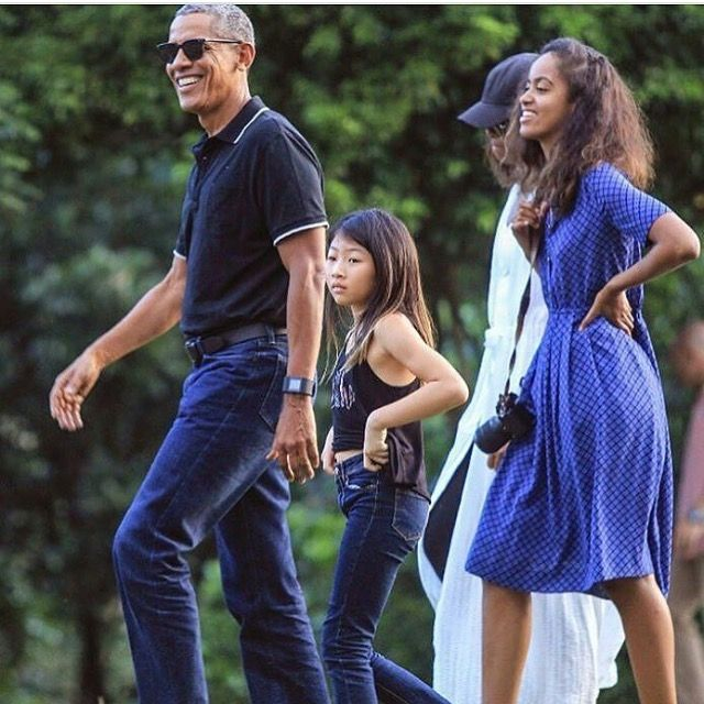 #BarackObama and His #Family in the #Historic #City of #Yogyakarta in #Java 6/28/17. #Niece #TheObamas #FamilyVacation �#44thPresident #BarackObama #FirstLady #MichelleObama & Their #Daughters #MaliaObama & #SashaObama #Indonesia #Vacation Barack Obama #lived there in the 1960s after his mother Ann Dunham married second husband Lolo Soetoro, a native #Indonesian his #sister Maya Soetoro-Ng. & her family joined The Obamas on Vacation