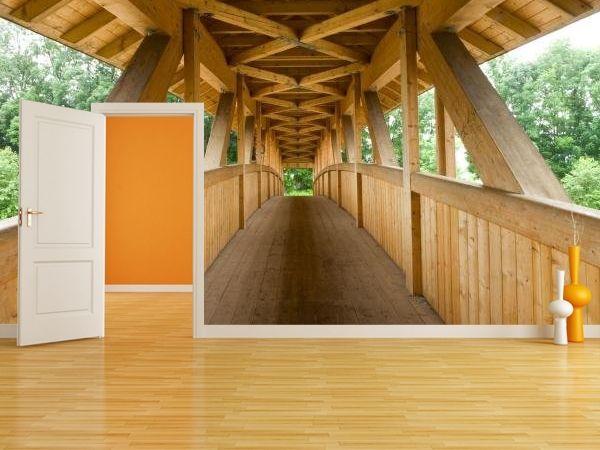 #Fototapeta #most #bridge #dekorujemysciany #dekoracja #interior #sciana #wall #wnetrze # Tapeta z drewnianym mostem w niesamowity sposób optycznie powiększa pomieszczenie! http://dekorujemysciany.pl/drewniany-most-niemcy-36.html