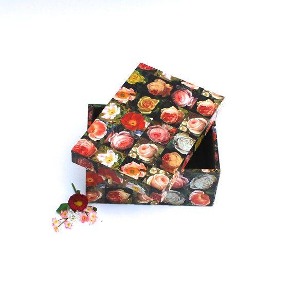 Box storage roses flowers jewelry box handmade gift von Arsunica