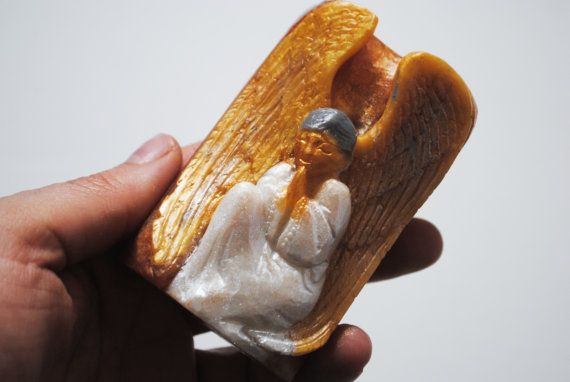Handmade Angel soap  looks like carved  Christmas by NerdySoap