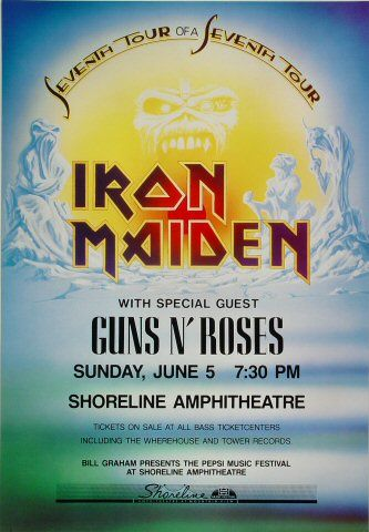 Iron Maiden Poster ft. Guns n' Roses