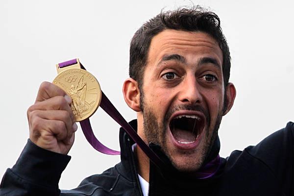 Canoeing (men's K-1 kayak slalom)    Gold: Daniele Molmenti(pictured, Italy)    Silver: Vavrinec Hradilek (Czech Republic)    Bronze: Hannes Aigner (Germany)