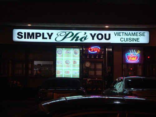 Vietnamese restaurant name puns