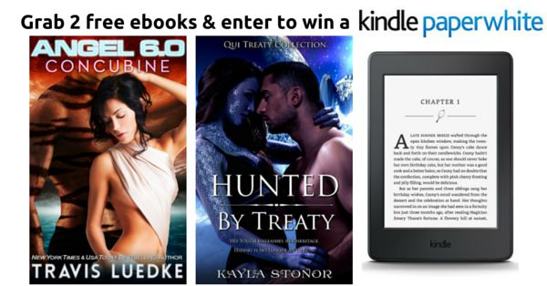 Instantly download two bestselling Scifi Romance ebooks and enter to win a Kindle Paperwhite ereader!
