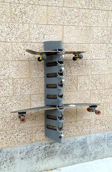 Skateboard racks.