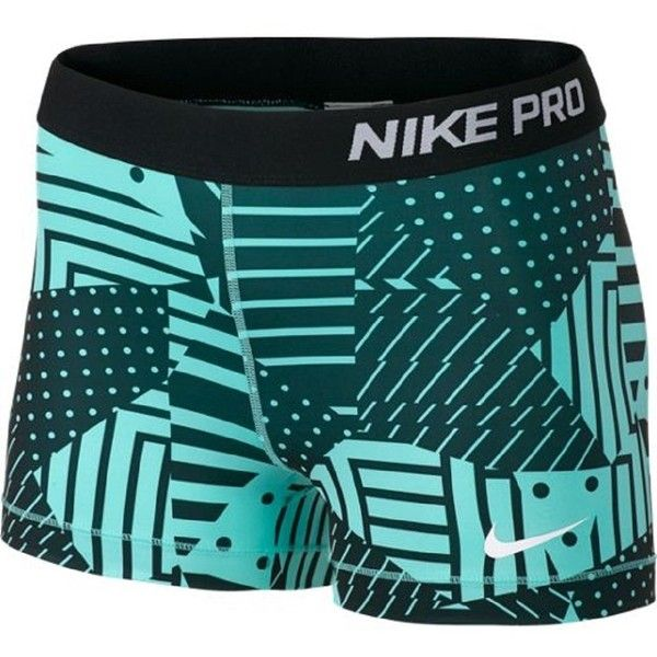 "Nike Pro 3"" Compression Shorts ($40) ❤ liked on Polyvore featuring shorts, nike, spandex, sport, basketball shorts, nike shorts, spandex shorts and sports shorts"