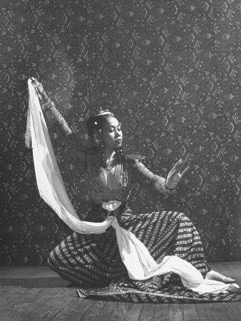 Balinese Dancer Devi Dja Performing