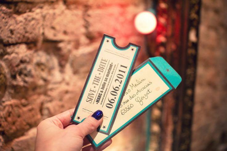 Invits tickets de concert vintage | Blog mariage, Mariage original, pacs, déco