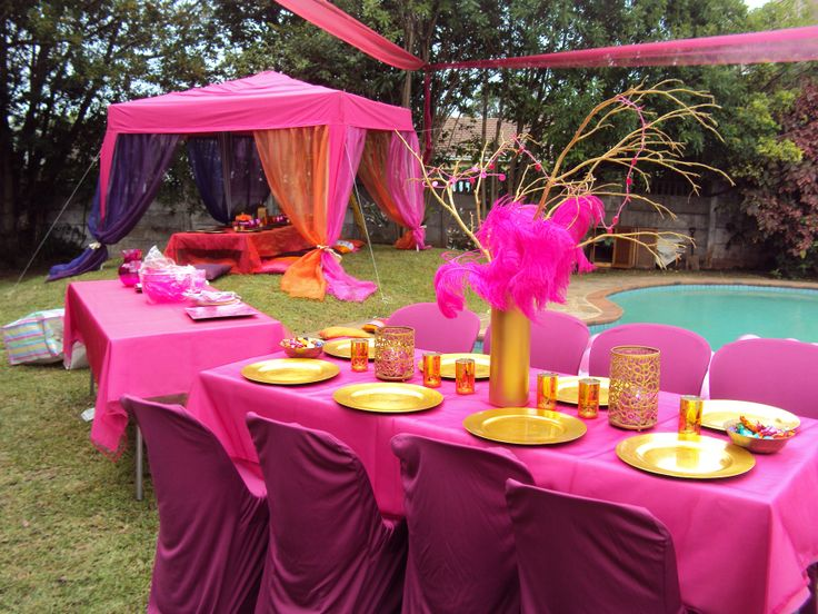 Moroccan pink & gold
