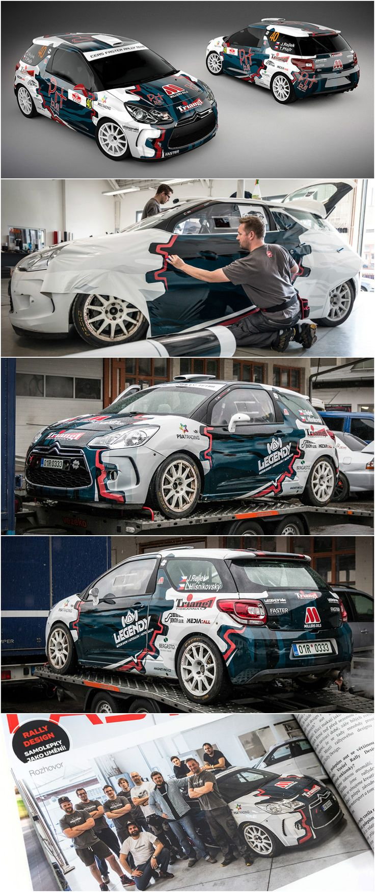 Simple car sticker design - Design And Wrap Of Citroen Ds3 For Cers Faster Rally Team Which Is Competing With