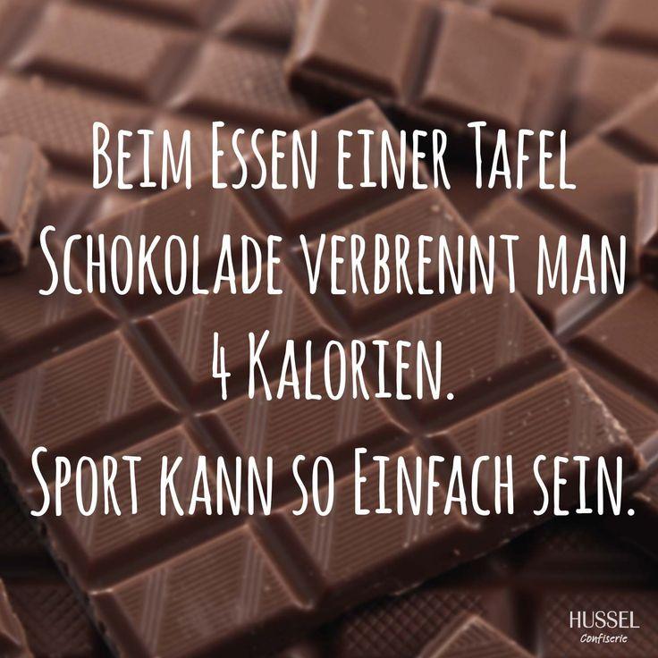Beim Essen einer Tafel Schokolade verbrennt man 4 Kalorien ...