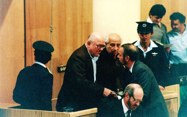 """February 16,   1987: Treblinka Nazi concentration camp trial  -    John Demjanjuk goes on trial in Jerusalem, accused of being """"Ivan the Terrible,"""" a guard at the Treblinka Nazi concentration camp.  Demjanjuk was found guilty of war crimes and crimes against humanity, but the conviction ended up being overturned by the Israeli  Supreme Court."""