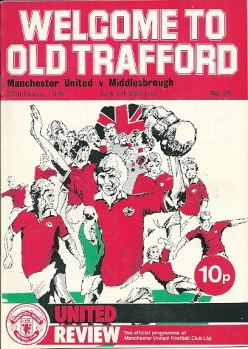 Manchester United vs Middlesbrough 1976