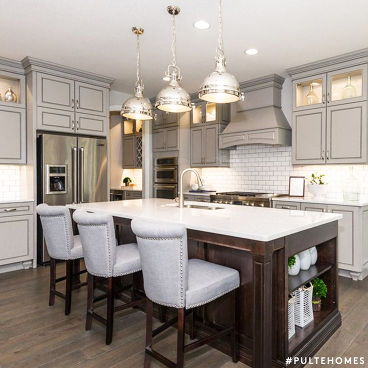 Get this gorgeous gray look in your kitchen by using SW Silverplate 7649! | Pulte Homes