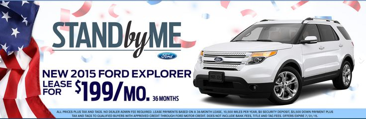 Get A New 2015 ‪#‎Ford‬ Explorer Lease For $199 Month! http://www.gusmachadoford.com/ ‪#‎Miami‬ ‪#‎Hialeah‬ ‪#‎Kendall‬