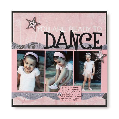 Dance Addition Scrapbook Layout Idea from Creative Memories