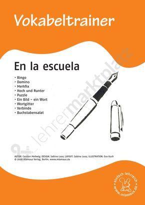 Vokabeltrainer Spanisch: en la escuela