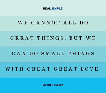 Real Simple Quote by Mother Teresa