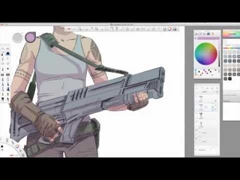 Software Tips: SketchBook Pro 7 Coloring With Kevin Mellon - YouTube