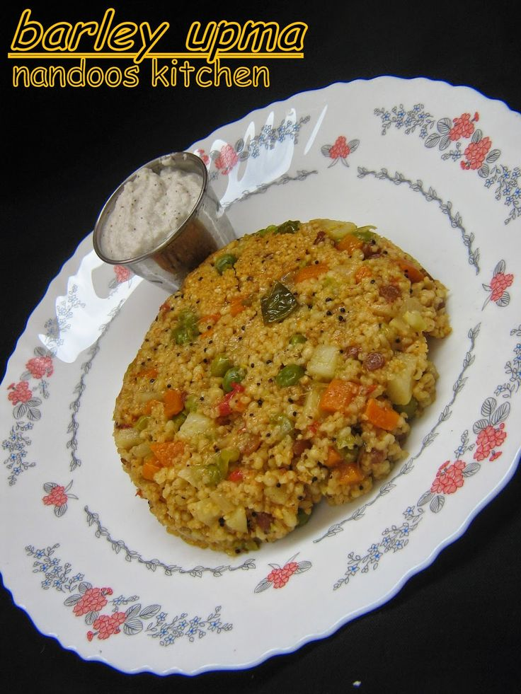 barley upma, make and freeze in muffin tins, microwave at work.