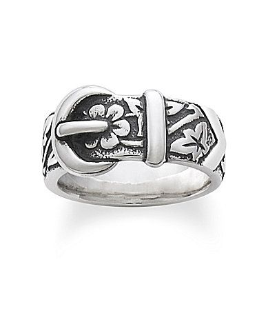 James Avery Floral Belt and Buckle Ring #Dillards