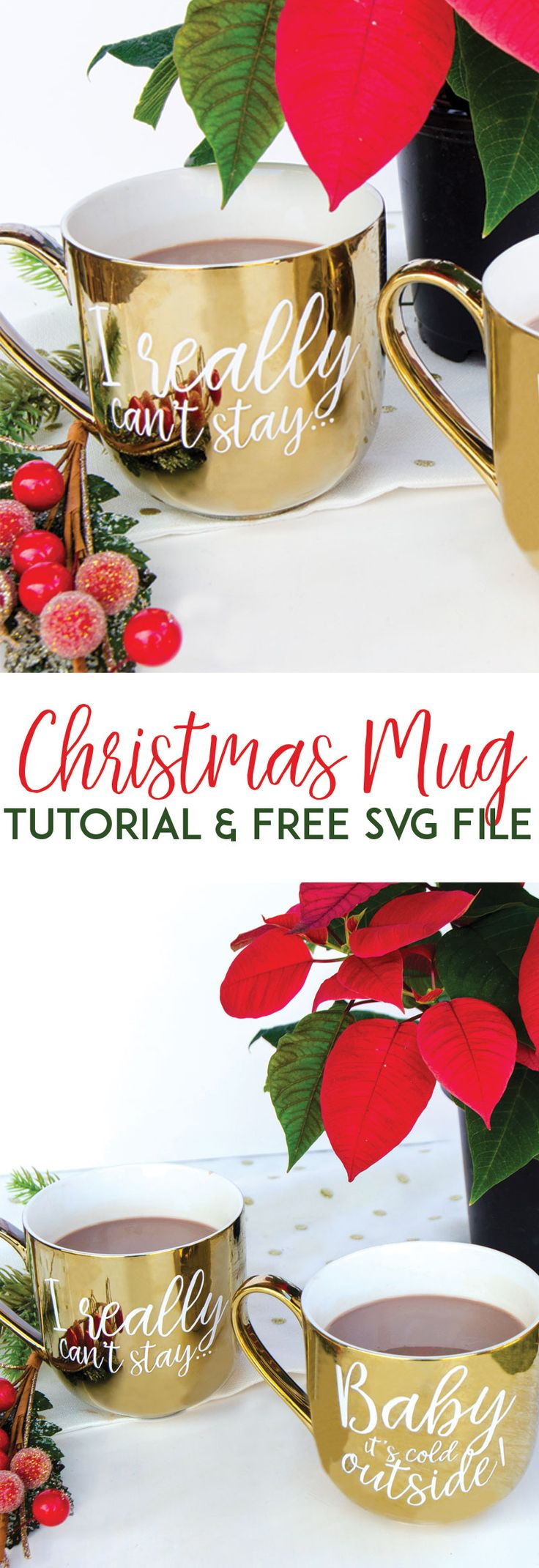 Christmas Mugs Gift Tutorial by MichaelsMakers Lindi Haws of Love The Day