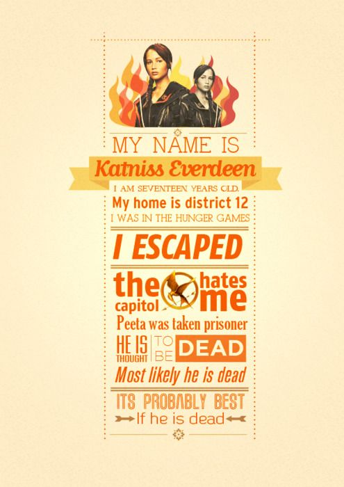 My name is Katniss Everdeen...