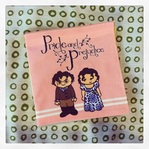 Pride and Prejudice cloth quiet book for toddler baby - start them on literature early, lol