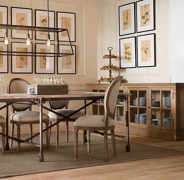 Buffet In Dining Room ~ In Black French Casement Low Cabinet From  Restoration Hardware