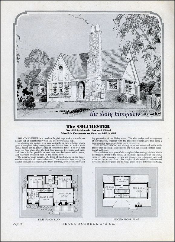 Homes Of Today Sears Kit Houses 1932 Vintage House Plansvintage Housesarchitectural