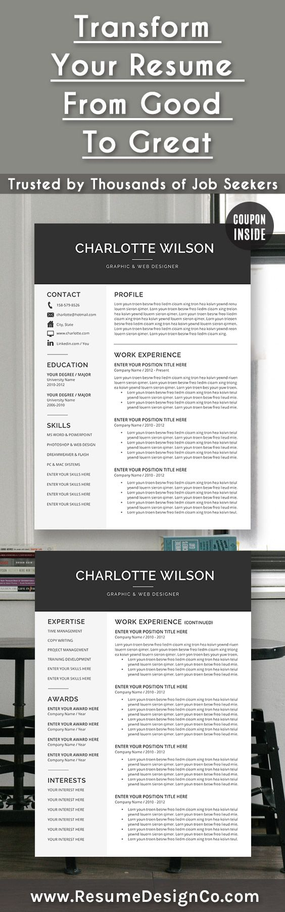 Transform your resume from good to great. Trusted by