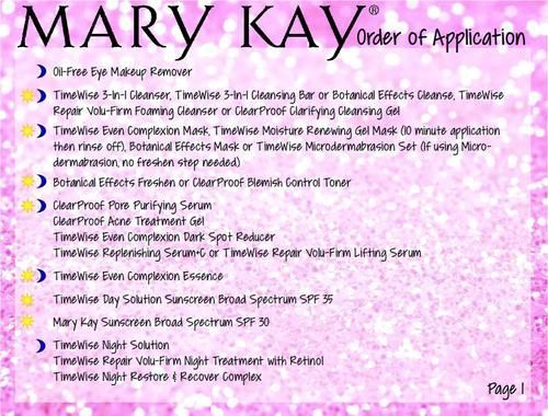 """Order of Application"""" Postcard front & back for Mary Kay"""