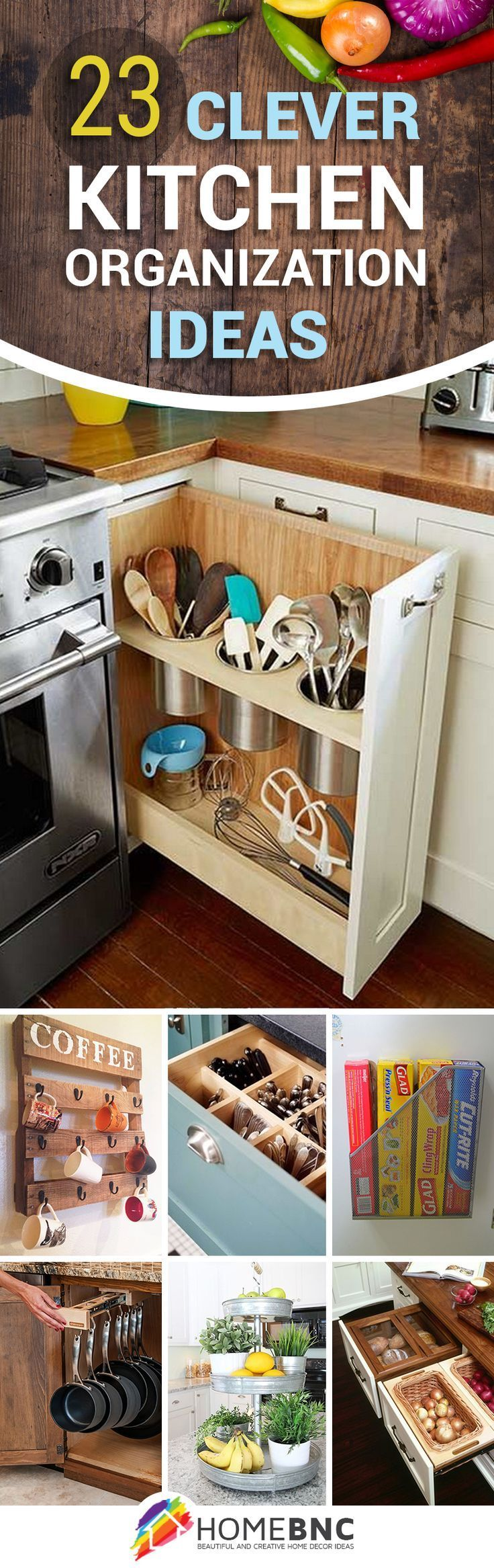 best 25 kitchen organization ideas on pinterest storage apartment kitchen storage ideas and small spaces - Organizing Kitchen Ideas