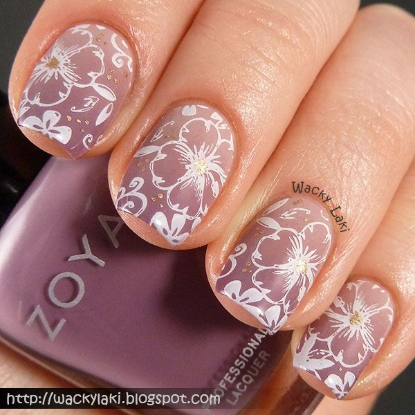 floral pattern from MoYou London Pro XL 10 plate