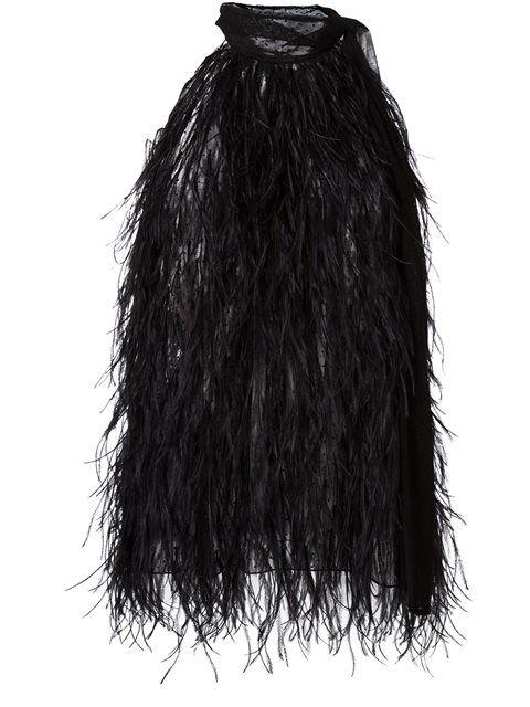 MICHAEL KORS Semi-Transparentes Top Mit Federn. #michaelkors #cloth #federn