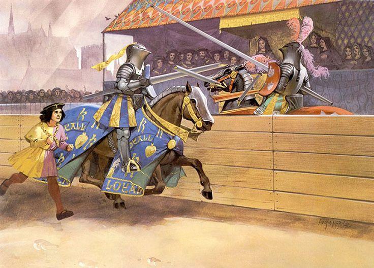 Angus McBride - Enrique VIII de Inglaterra en el torneo de Westminster, 1511.