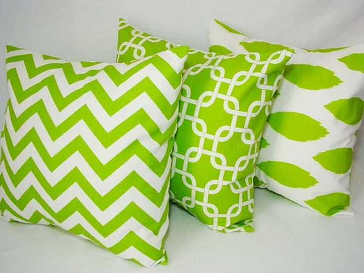 Designer Decorative Green Couch Pillows #heritagecollection Spring Green Pinterest Green ...