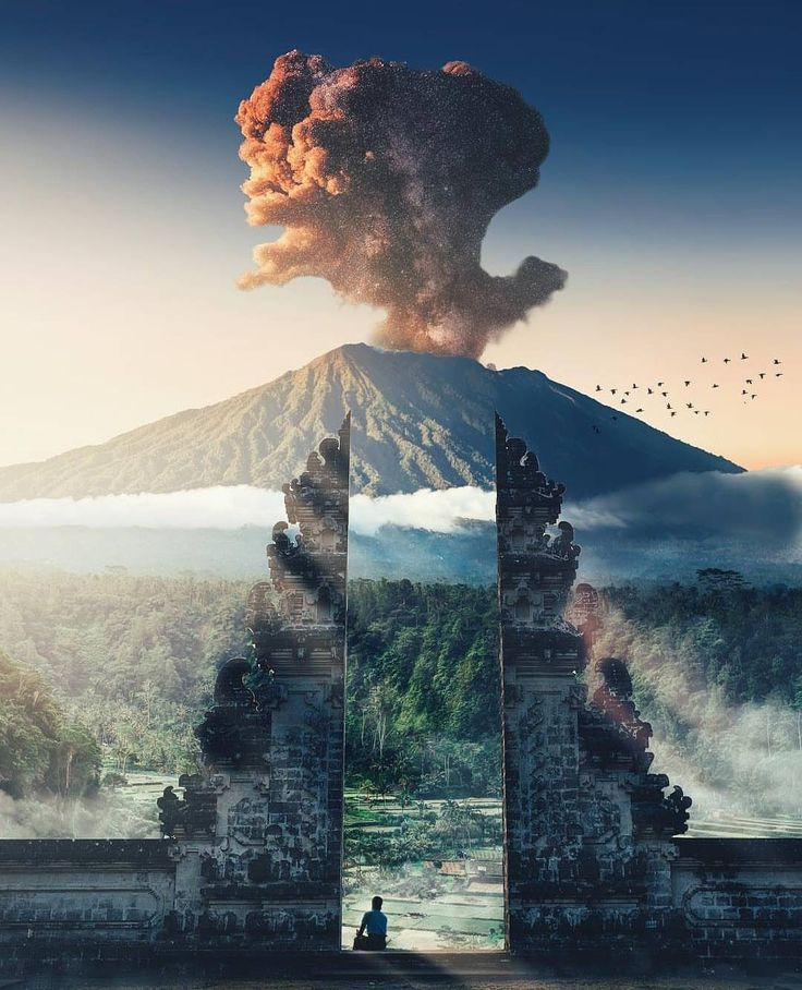 Mount Agung is waking for the first time since 1963 #bali #volcano #eruption