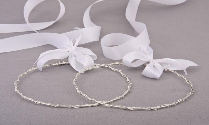 Greek Wedding Shop - Criss Cross Silver Stefana, $200.00 (http://www.greekweddingshop.com/criss-cross-silver-stefana/)
