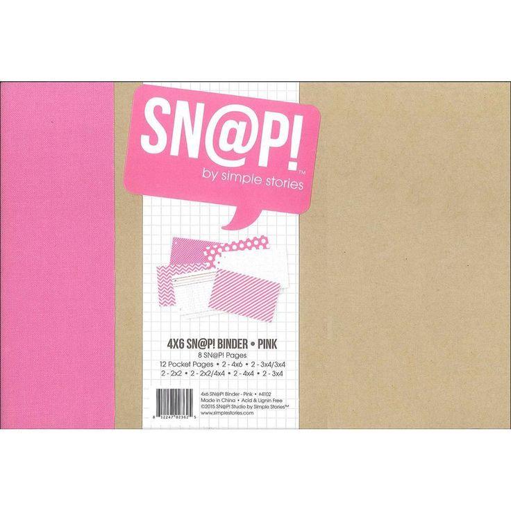 Simple Stories Snap Binder 4x6