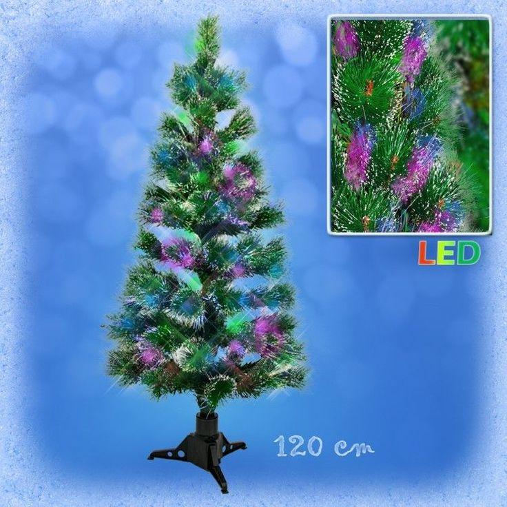Superb Weihnachtsbaum fichte LED mit Farbwechselnden Lichtfasern Cm