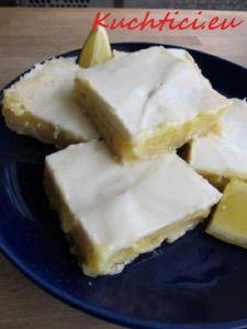 citronové řezy - poleva citronová na be be řezy