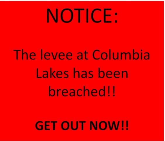 """8/29/17 Early Tuesday morning, officials in Brazoria County issued a warning after a levee at Columbia Lakes was breached. Using Twitter, officials stated, """"Get out now!!"""" Brazoria County is located south of Houston. County spokeswoman Sharon Trower said: """"The Brazos River is being pounded, and all of that water is coming down from the tributaries and …"""