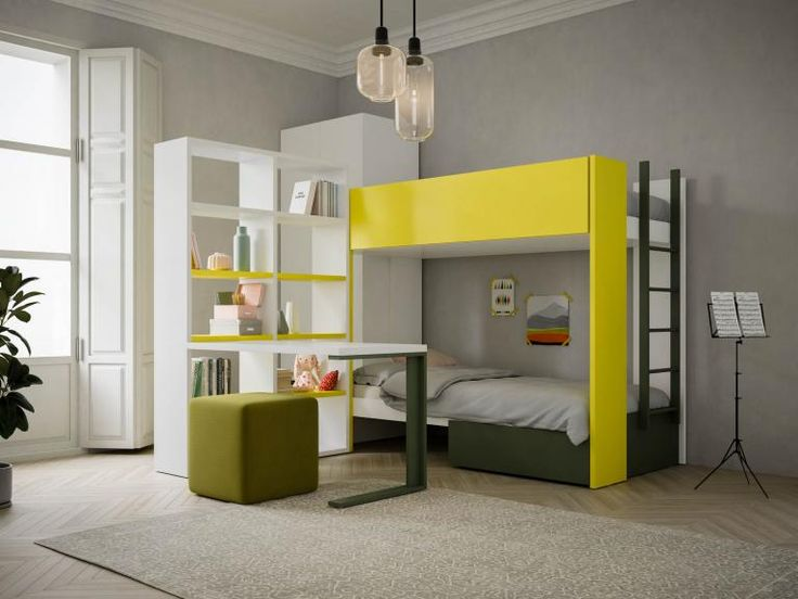 les 25 meilleures id es de la cat gorie chambres avec lits superpos s sur pinterest chambres. Black Bedroom Furniture Sets. Home Design Ideas