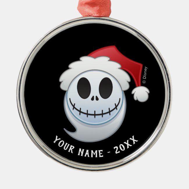 With Me Always Christmas Ornament Picture 2020 Jack Skellington Santa Emoji Metal Ornament | Zazzle.in 2020